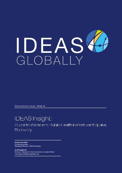 IDEAS Insights Guide to public health and water