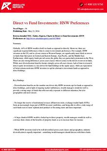 Global High-Net-Worth Preference Report: Direct vs Fund Investment