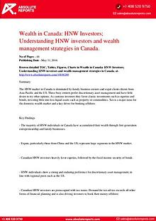 Canada Wealth Report 2016: HNW Investors, Wealth Management Strategy