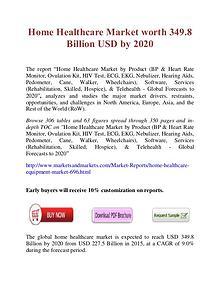 Home Healthcare Market worth 349.8 Billion USD by 2020