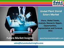 Plant Sterol Esters Market Value Share, Supply Demand 2016-2026