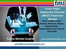 Major Depressive Disorder Treatment Market Value Share, Supply by2026