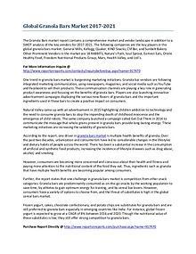Global Granola Bars Market Growth Analysis