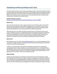 Global Development of the Dinner RTE Foods Market by 2021