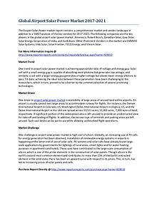Global Airport Solar Power Market Growth Analysis