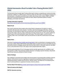 Global Automotive Dual Variable Valve Timing Market Report