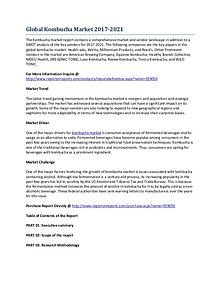 Growth Research Analysis of the Global Kombucha Market
