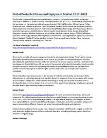 Global Portable Ultrasound Equipment Market Growth Forecast