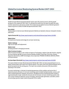 Global Corrosion Monitoring System Market Analysis 2017-2021