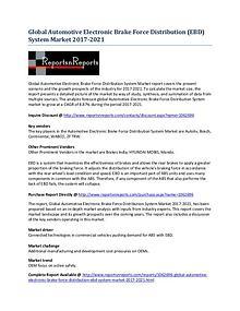 Automotive Electronic Brake Force Distribution System Market Report