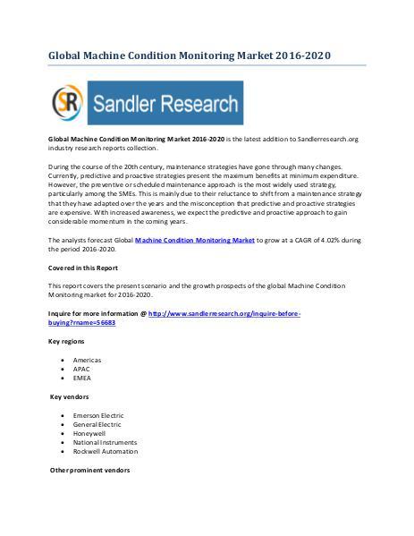 World Machine Condition Monitoring Market Drivers and Challenges Repo World Machine Condition Monitoring Market Drivers