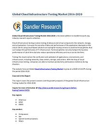 World Cloud Infrastructure Testing Market Drivers and Challenges Repo