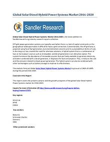 Solar Diesel Hybrid Power Systems Market 2016-2020 Global Research Re