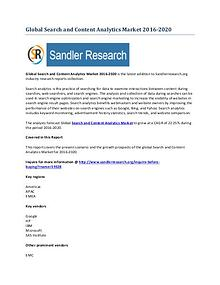 Search and Content Analytics Market 2016-2020 Global Research Report