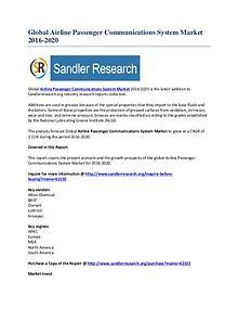 Worldwide Outlook on Airline Passenger Communications System Market