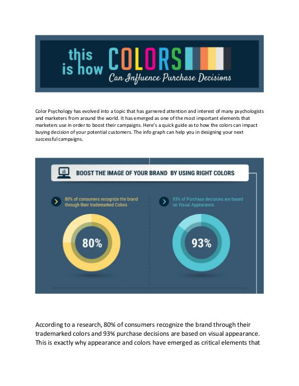 Top your marketing game by using right colors Here's a quick guide of color psychology