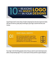 10 REASONS TO INVEST IN YOUR LOGO DESIGNS
