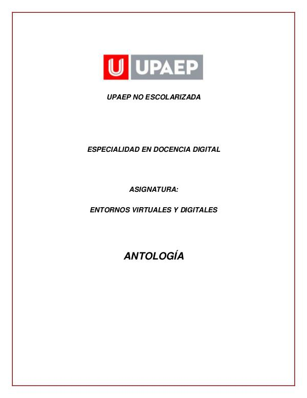 Antología EVDA 1