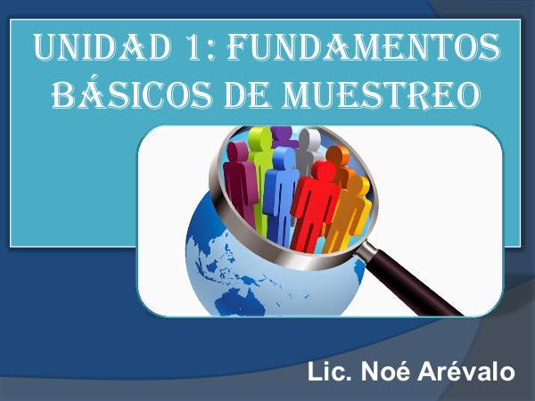 Fundamentos Básicos del Muestreo MUESTREO ESTADÍSTICO - CLASE 1