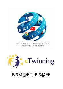B sm@rt, B s@fe (Etwinning) Posters designed for SID 2018 Competition
