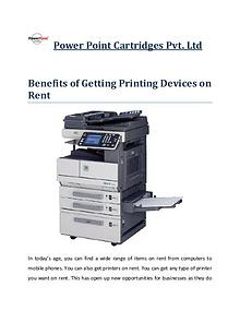Power Point Cart - Benefits of Getting Printing Devices on Rent