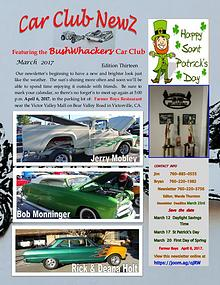 BushWhackers Car Club Newsletter