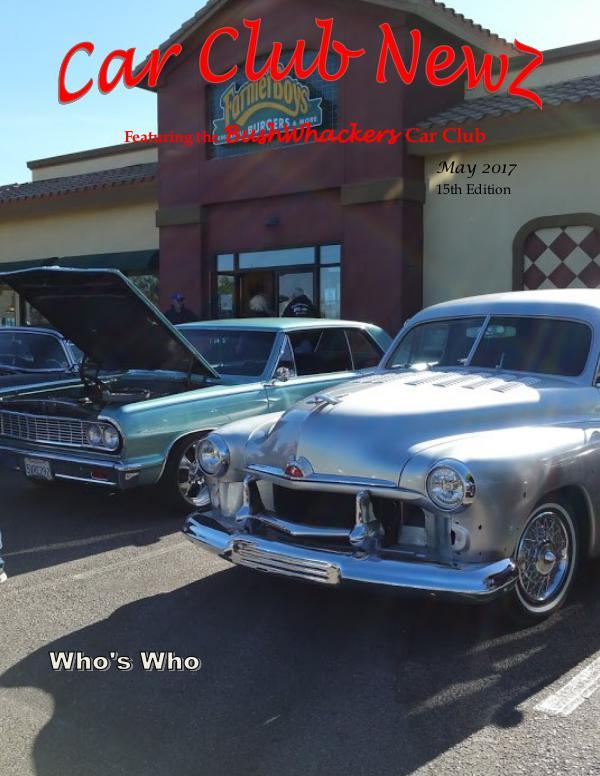BushWhackers Car Club Newsletter Car Club Newz BushWhackers May 2017
