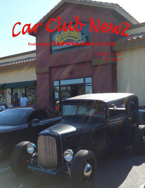 BushWhackers Car Club Newsletter Car Club Newz BushWhackers October 2017