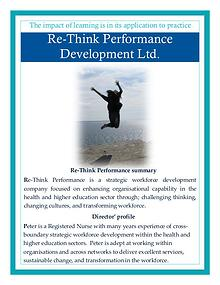 Introduction to Re-Think Performance