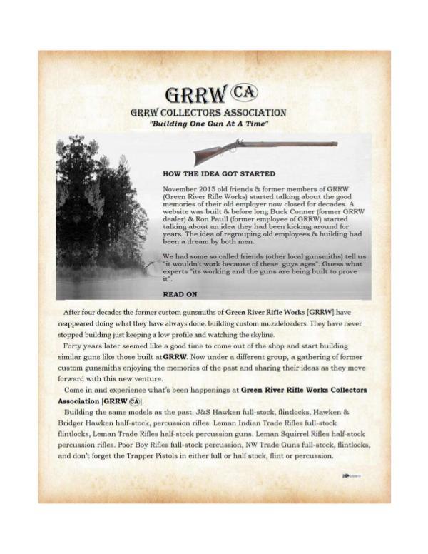 GRRW Collectors Association Vol. #1.