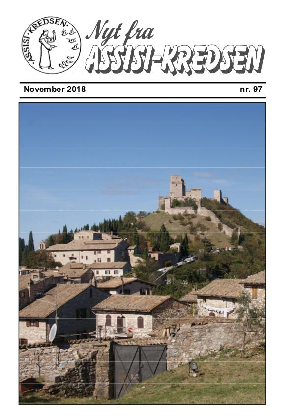 Nyt fra Assisi-Kredsen Nr 97. November 2018