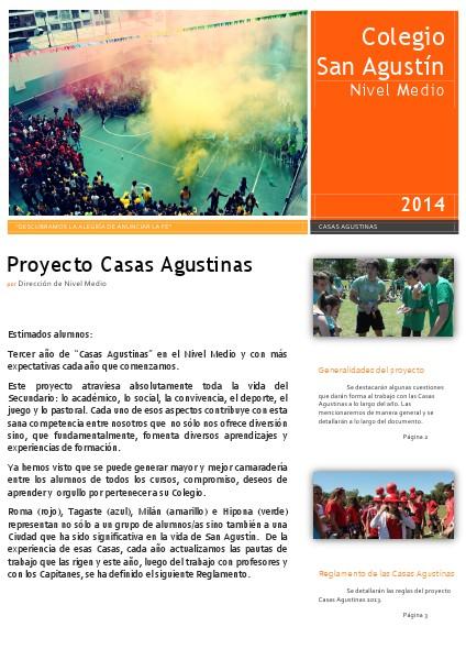 Reglamento de casas agustinas Reglamento casas agustinas 2014