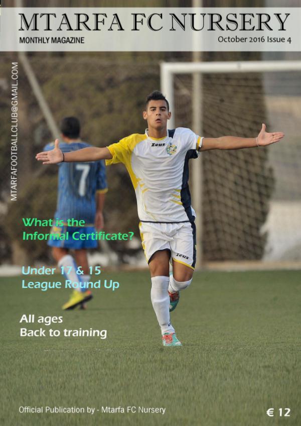 Mtarfa FC Nursery Volume 1 - Issue 4