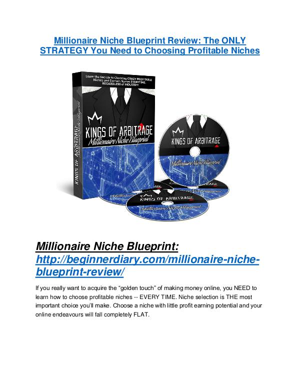MarketingMillionaire Niche Blueprint REVIEW & Millionaire Niche Blueprint (SECRET) Bonuses