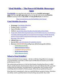 marketingViral Mobilio review & Viral Mobilio (Free) $26,700 bonuses