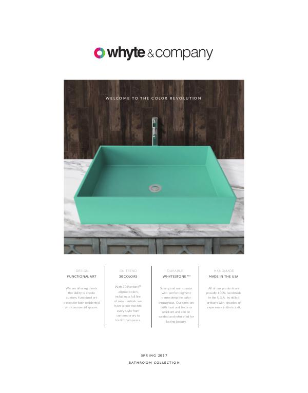 Whyte and Company Collections Spring 2017 Bathroom Collection