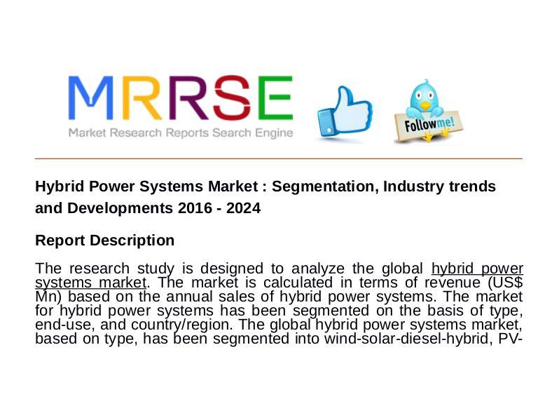 MRRSE Hybrid Power Systems Market : Segmentation, Indust