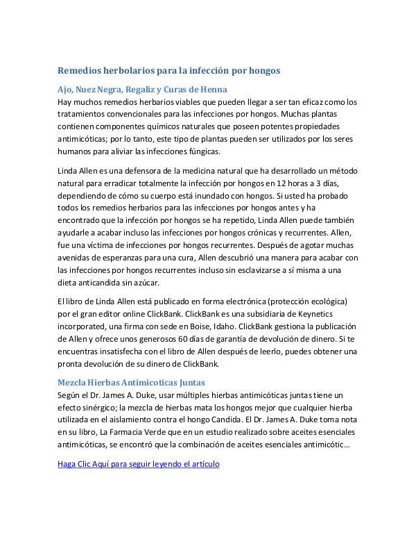 Los Mejores Remedios Caseros Para Las Infecciones Por Hongos | Que Fu Remedios herbolarios para la infección por hongos