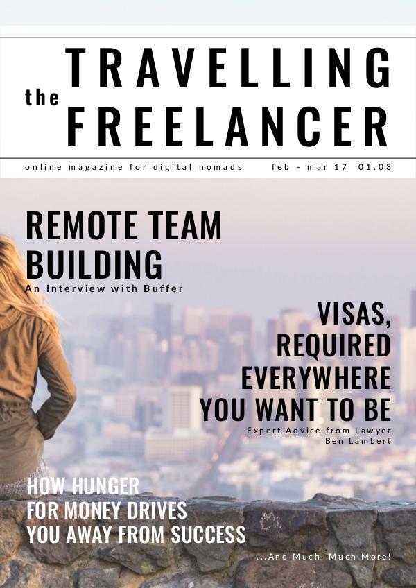 The Travelling Freelancer Feb-Mar 2017