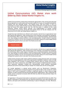 Unified Communications (UC) Market share worth $95bn by 2023
