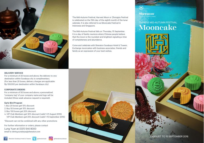 Mooncake Order Form - Sheraton Surabaya Hotel & Towers 2016