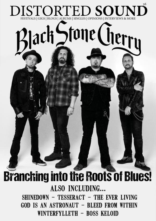 Distorted Sound Magazine 36 - Black Stone Cherry Cover