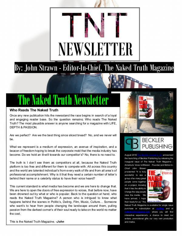 The Naked Truth Newsletter November 10th, 2016