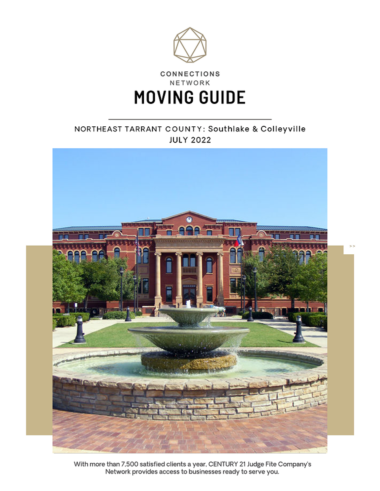 Northeast Tarrant County:  Southlake & Colleyville Connections Network Moving Guides 2020