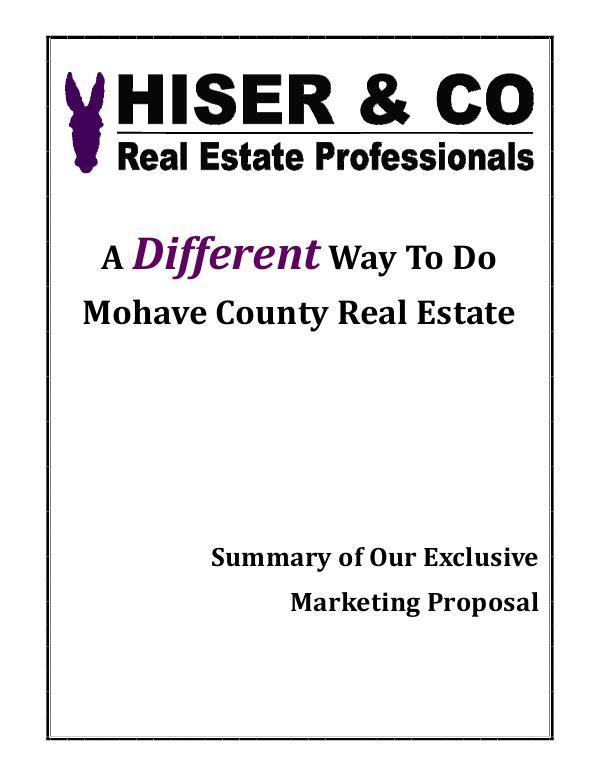 Hiser & Co Exclusive Marketing Plan HC Marketing plan for HUD 1