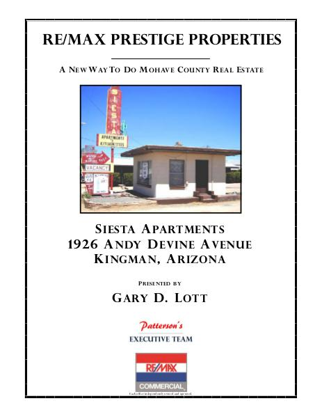 Mohave County Commercial Real Estate Siesta Apartments