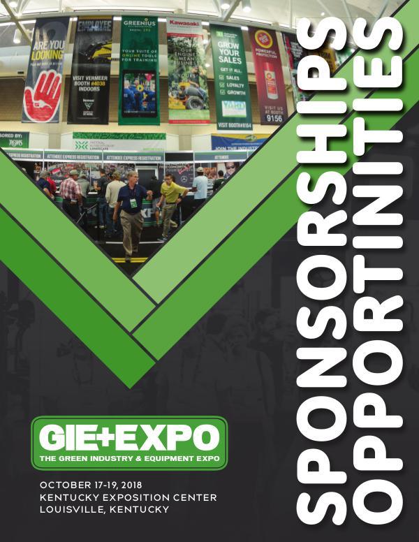 GIE+EXPO Sponsorship Brochure 2018
