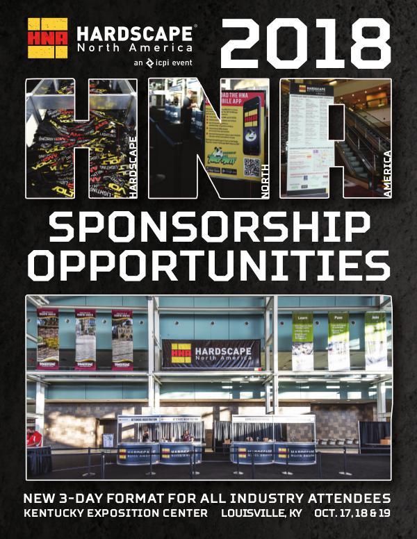 HNA Sponsorship Brochure 2018