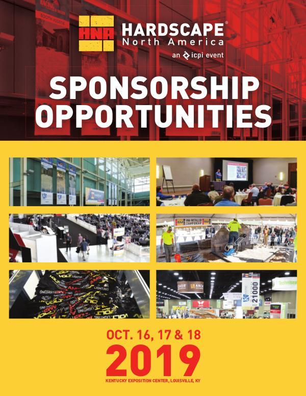 HNA Sponsorship Brochure 2019