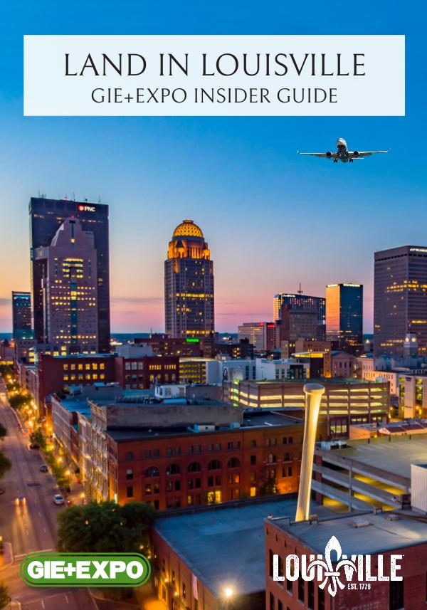 GIE+EXPO Attendee Brochure Land In Louisville